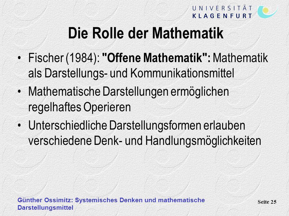 Die Rolle der Mathematik