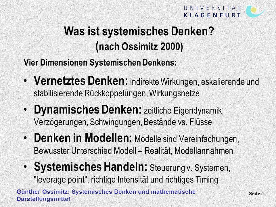 Was ist systemisches Denken (nach Ossimitz 2000)