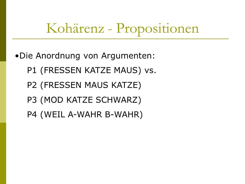 Kohärenz - Propositionen
