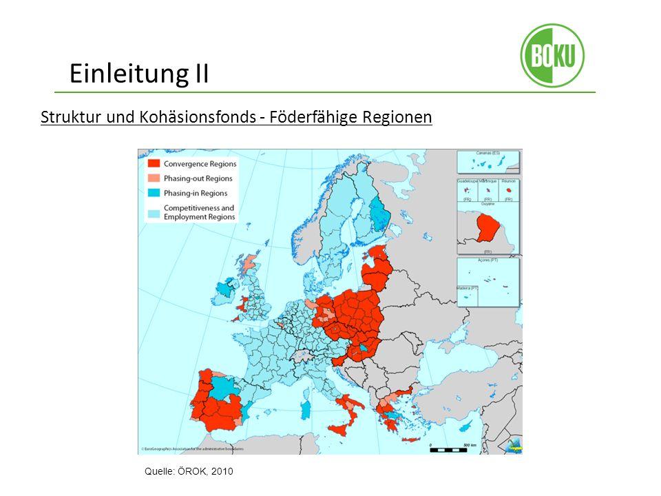 Einleitung II Struktur und Kohäsionsfonds - Föderfähige Regionen
