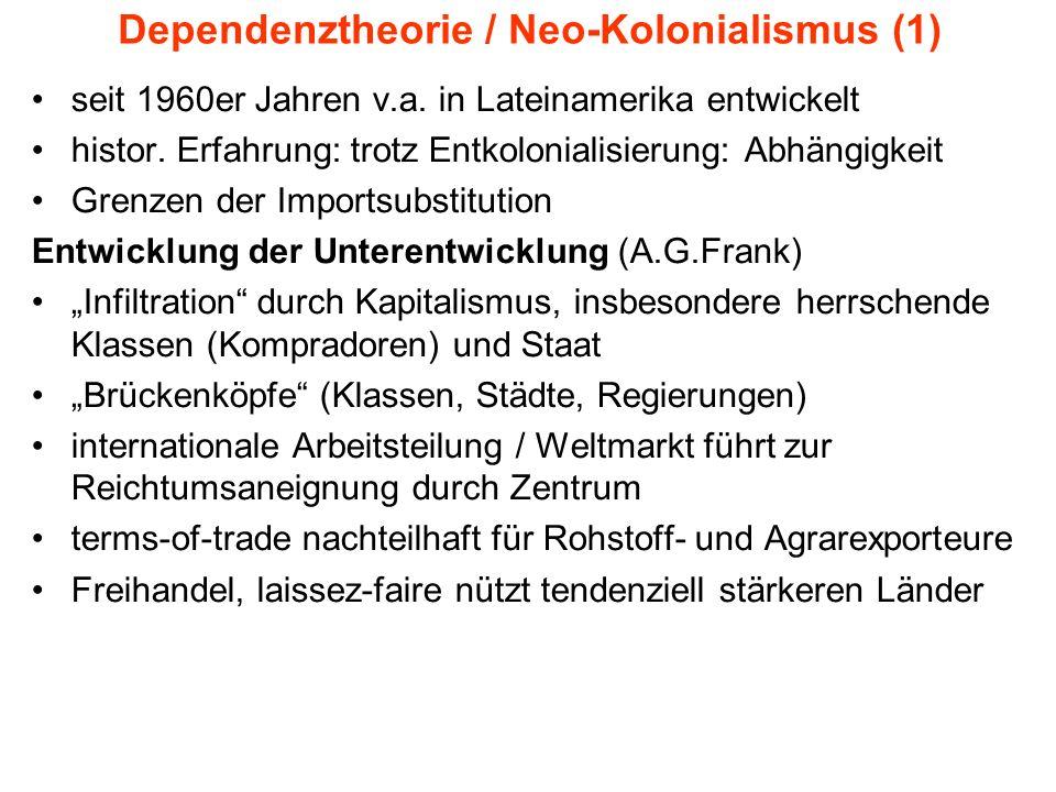 Dependenztheorie / Neo-Kolonialismus (1)