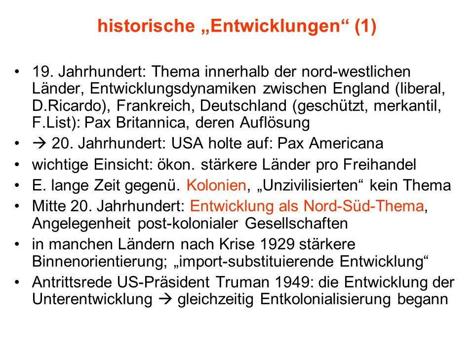 """historische """"Entwicklungen (1)"""
