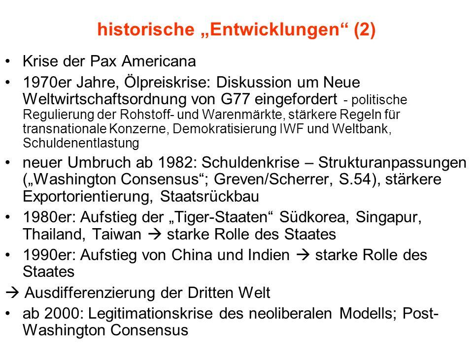 """historische """"Entwicklungen (2)"""