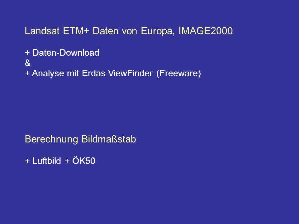 Landsat ETM+ Daten von Europa, IMAGE2000
