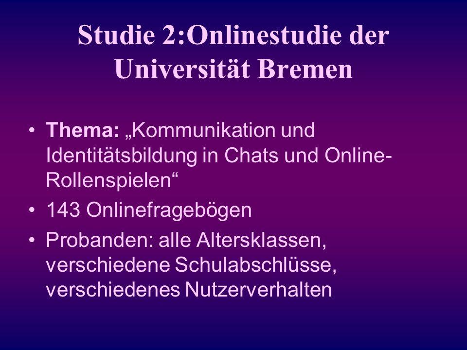Studie 2:Onlinestudie der Universität Bremen