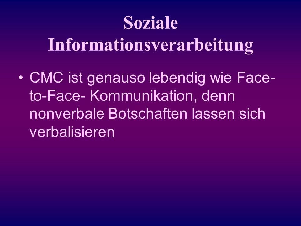 Soziale Informationsverarbeitung
