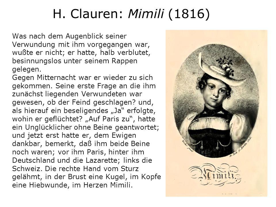 H. Clauren: Mimili (1816)
