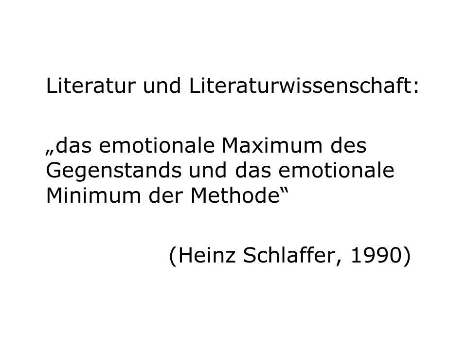 Literatur und Literaturwissenschaft: