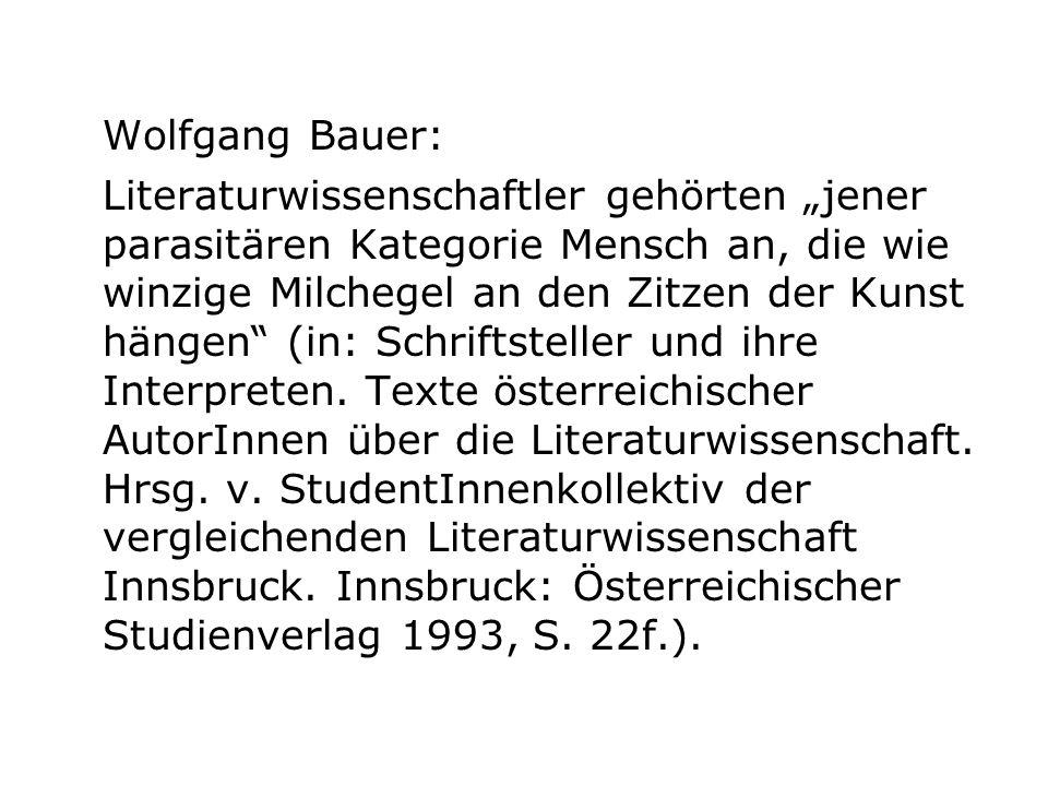 Wolfgang Bauer: