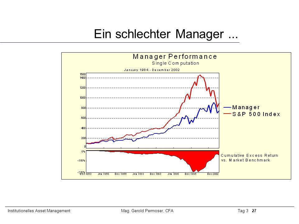 Ein schlechter Manager ...