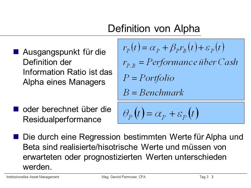 information ratio definition