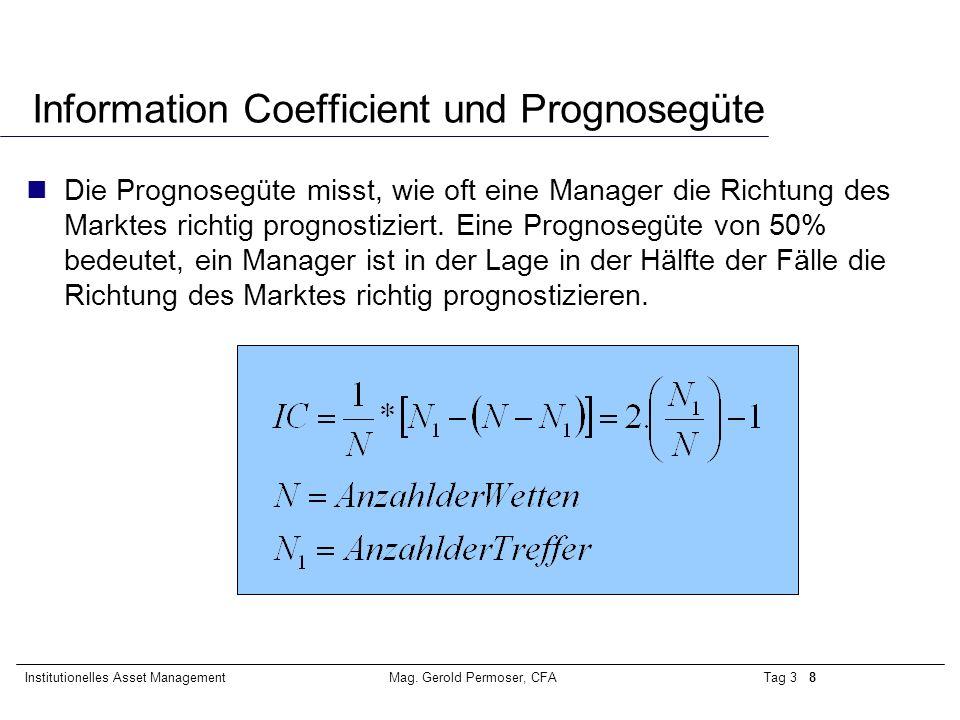 Information Coefficient und Prognosegüte