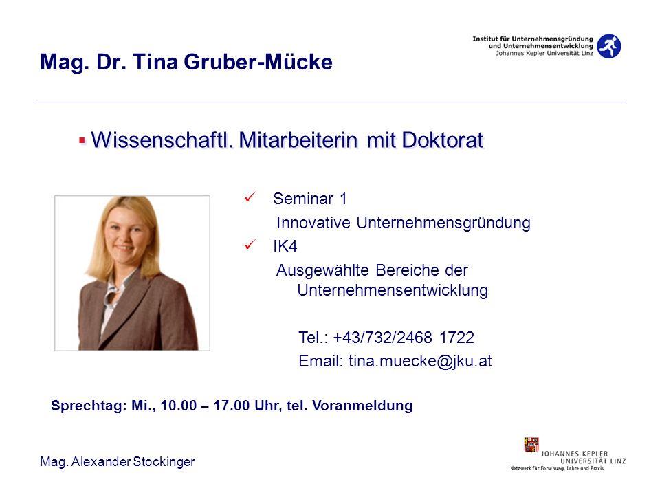 Mag. Dr. Tina Gruber-Mücke