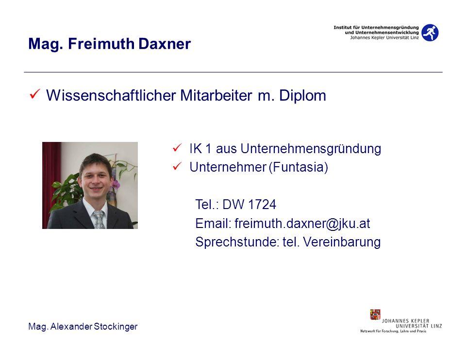 Wissenschaftlicher Mitarbeiter m. Diplom