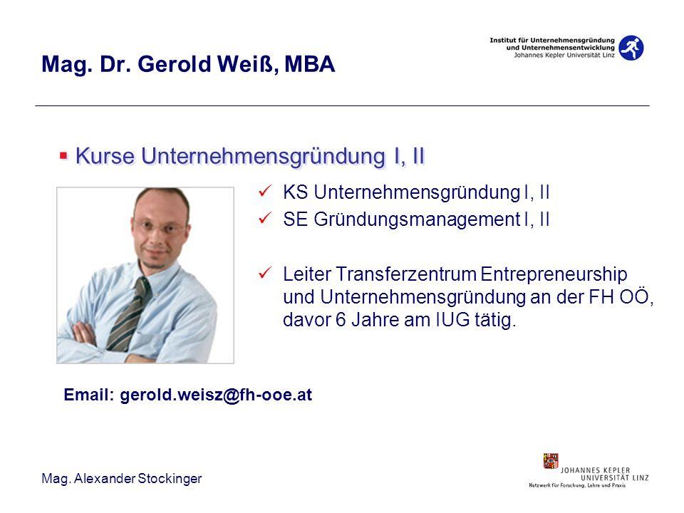 Kurse Unternehmensgründung I, II