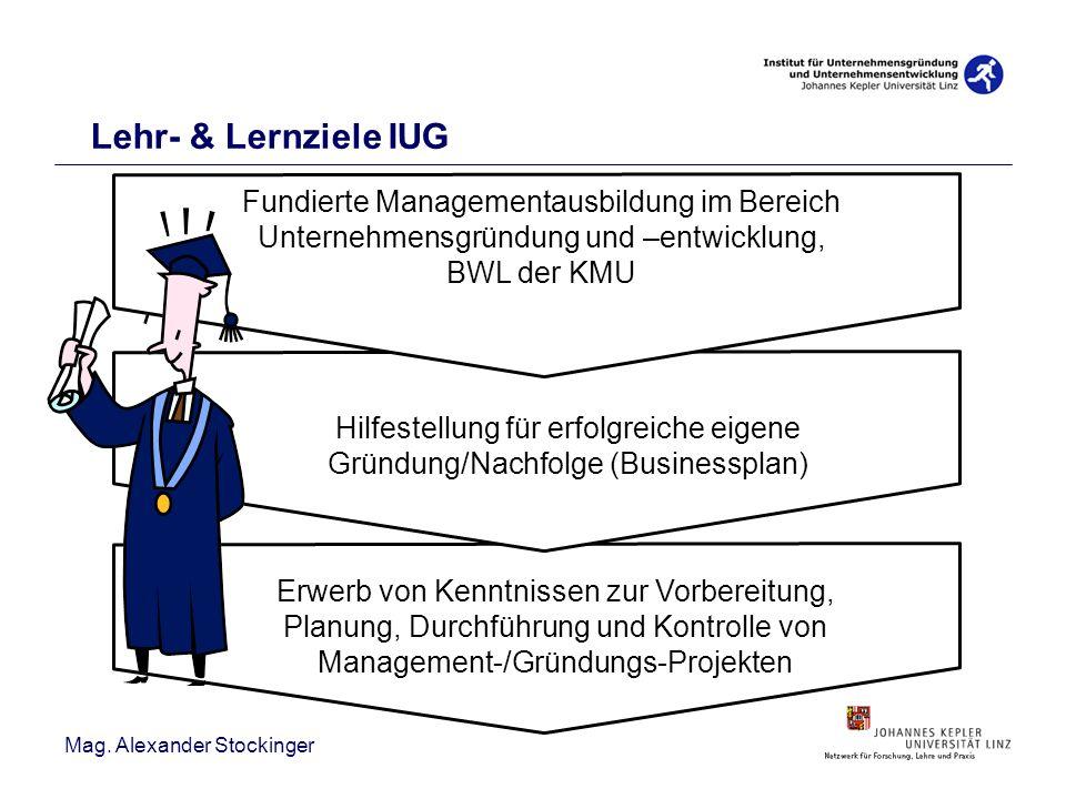Lehr- & Lernziele IUG Fundierte Managementausbildung im Bereich