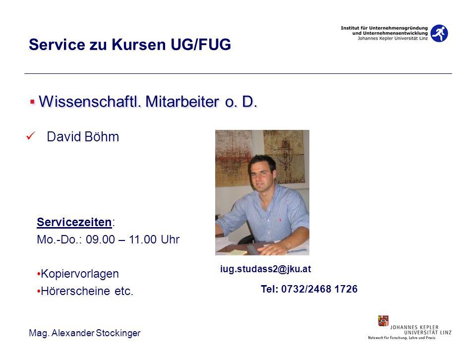 Service zu Kursen UG/FUG