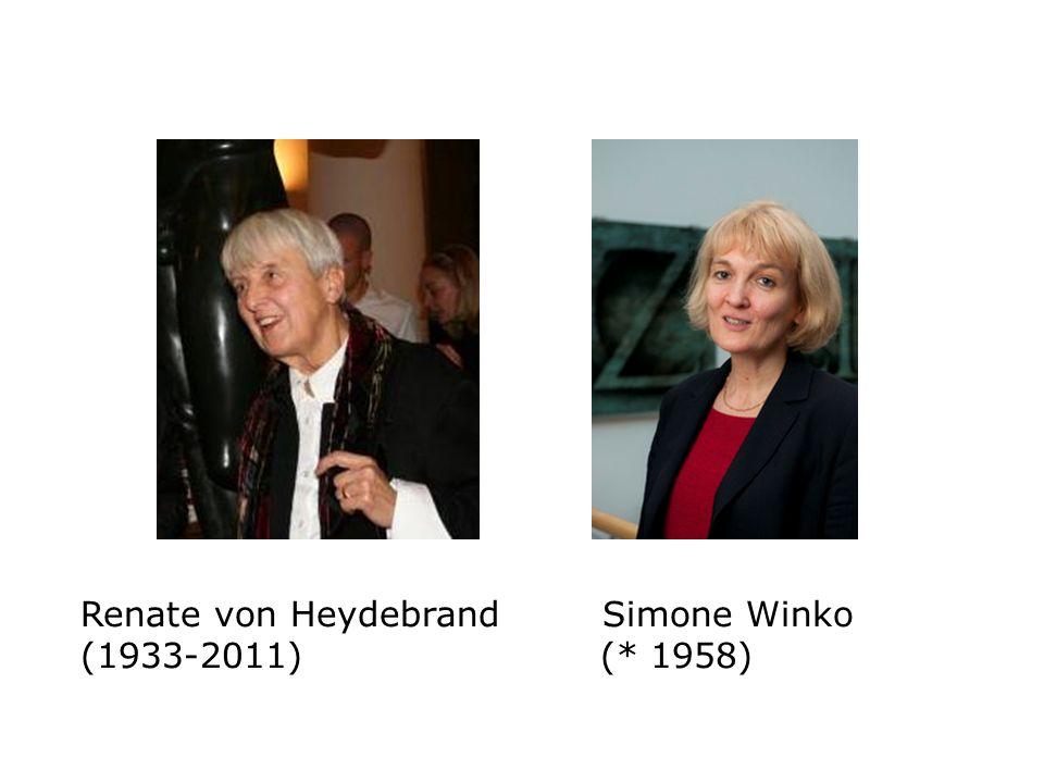 Renate von Heydebrand Simone Winko (1933-2011) (* 1958)
