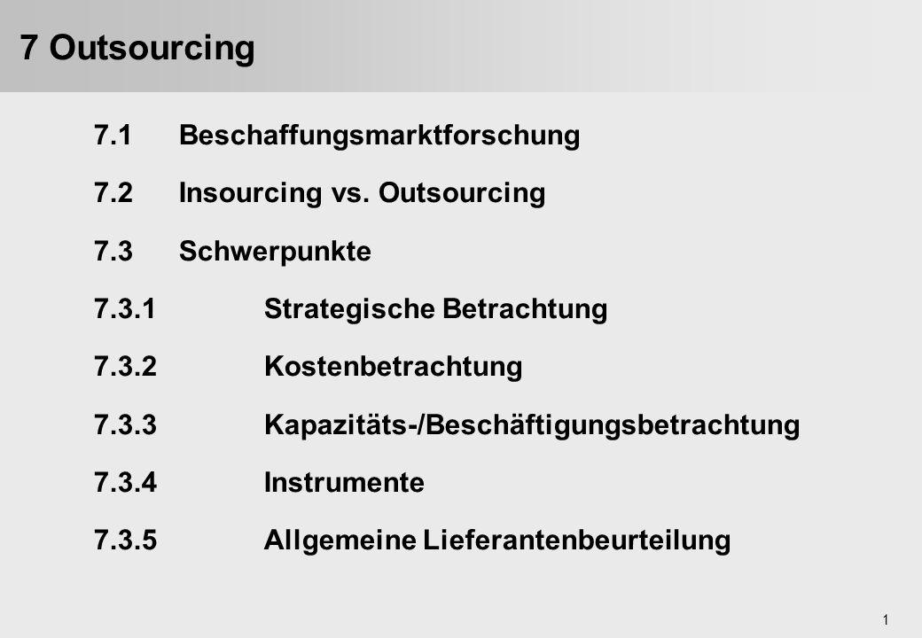 7 Outsourcing 7.1 Beschaffungsmarktforschung