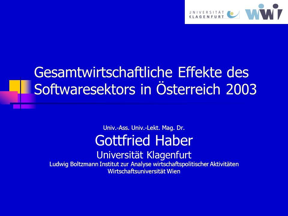 Gesamtwirtschaftliche Effekte des Softwaresektors in Österreich 2003