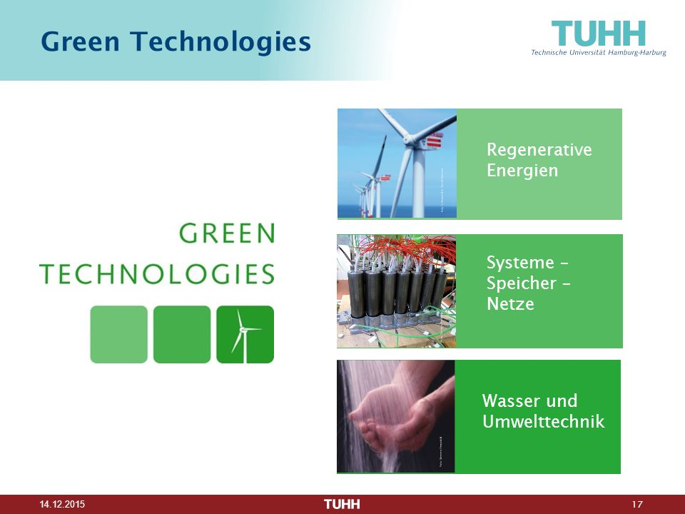 Green Technologies Regenerative Energien Systeme – Speicher – Netze