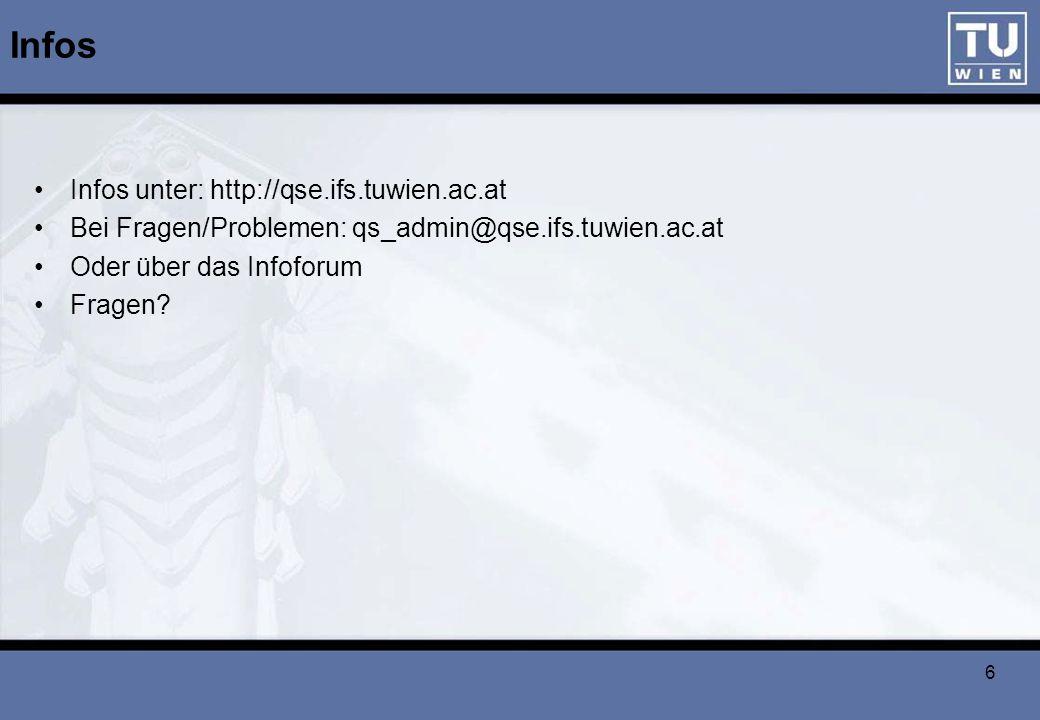 Infos Infos unter: http://qse.ifs.tuwien.ac.at