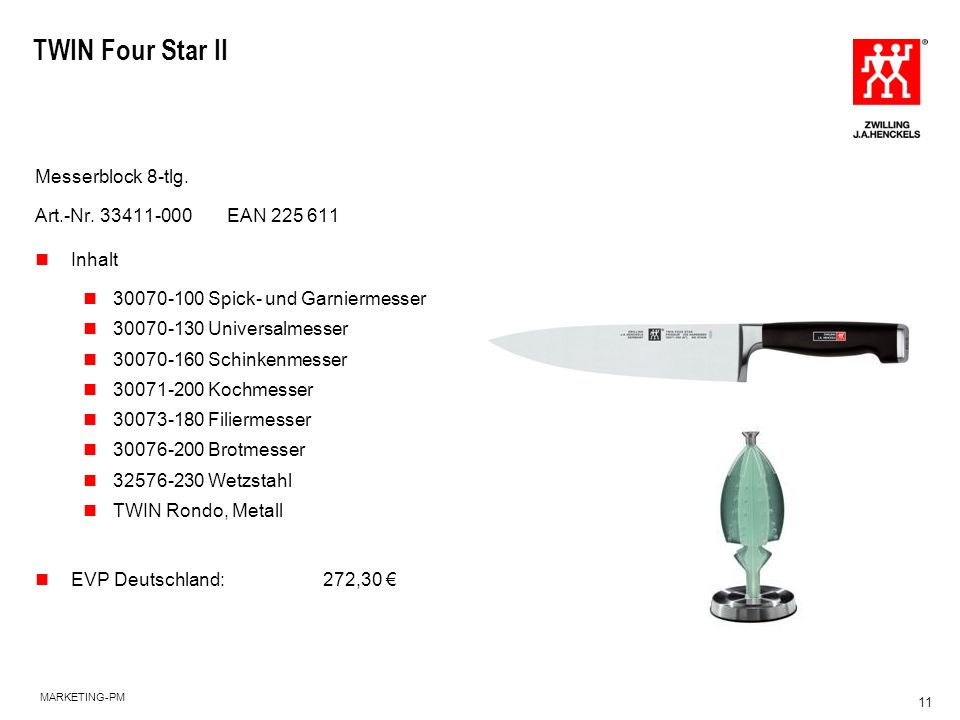 TWIN Four Star II Messerblock 8-tlg. Art.-Nr. 33411-000 EAN 225 611