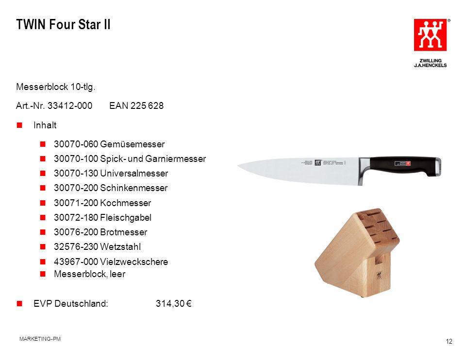 TWIN Four Star II Messerblock 10-tlg. Art.-Nr. 33412-000 EAN 225 628