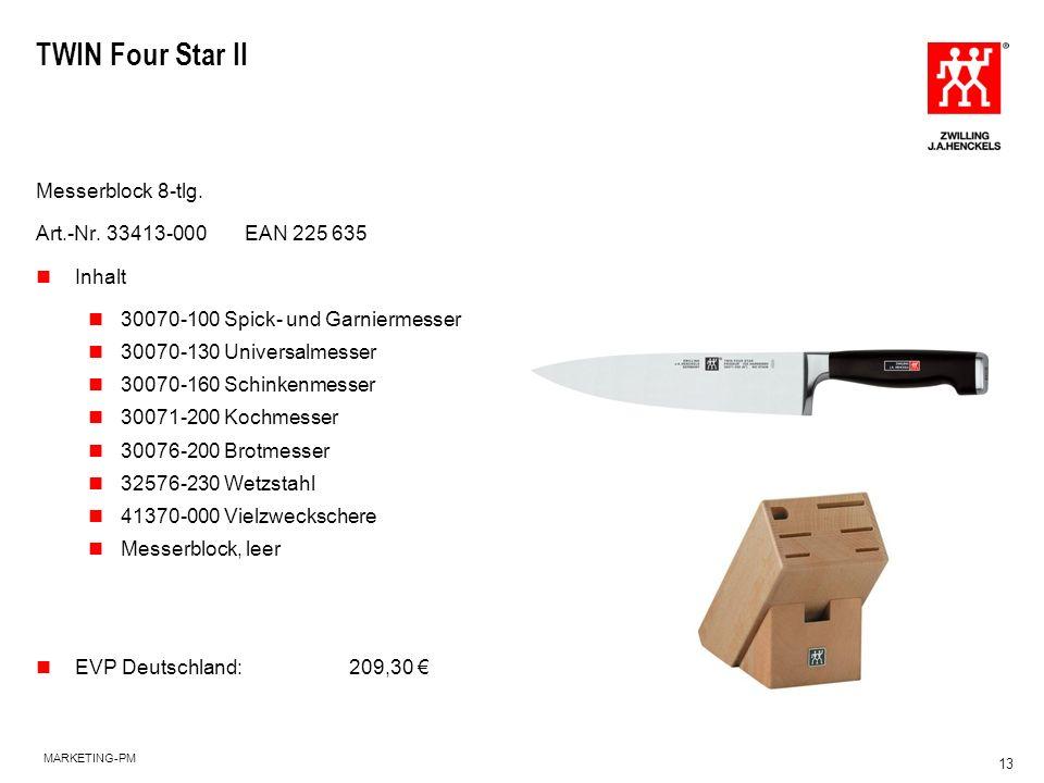 TWIN Four Star II Messerblock 8-tlg. Art.-Nr. 33413-000 EAN 225 635