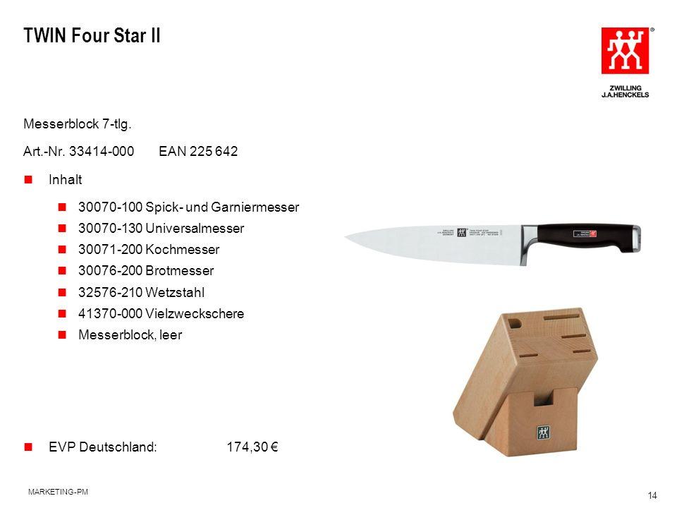 TWIN Four Star II Messerblock 7-tlg. Art.-Nr. 33414-000 EAN 225 642