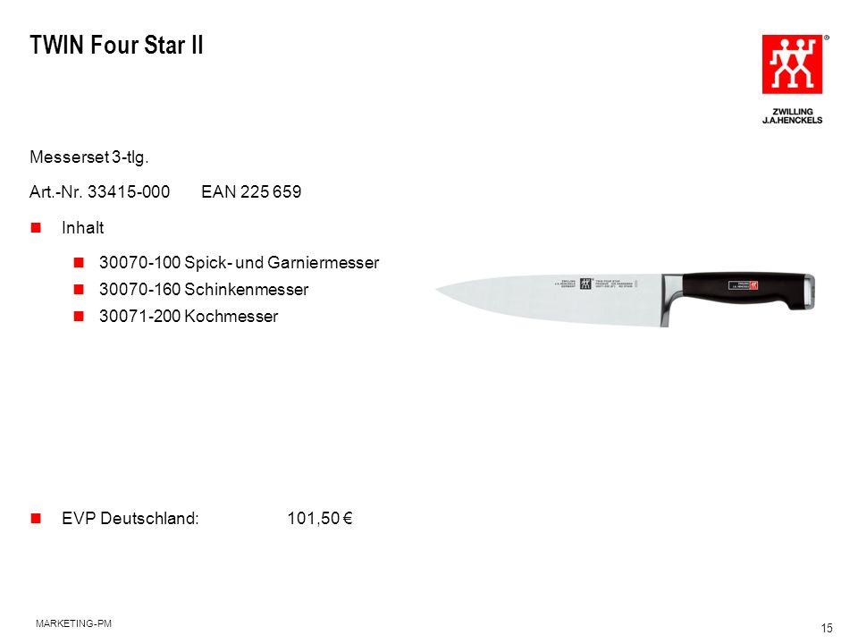 TWIN Four Star II Messerset 3-tlg. Art.-Nr. 33415-000 EAN 225 659