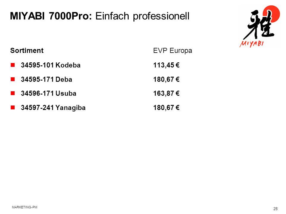 MIYABI 7000Pro: Einfach professionell