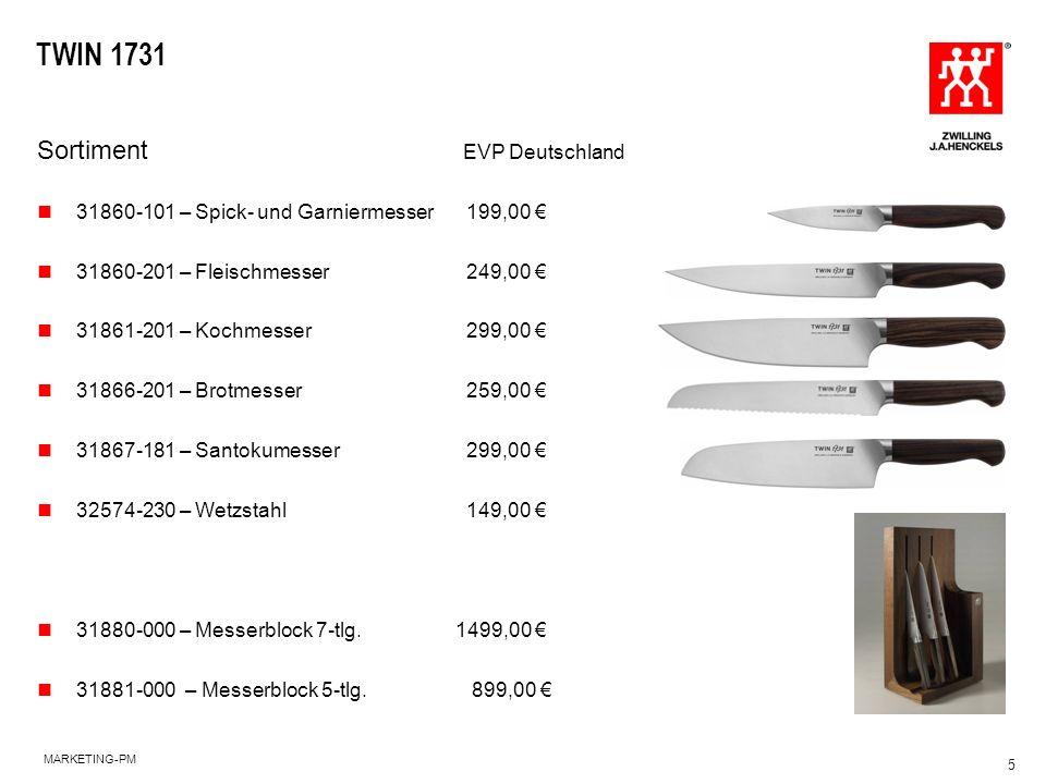 TWIN 1731 Sortiment EVP Deutschland