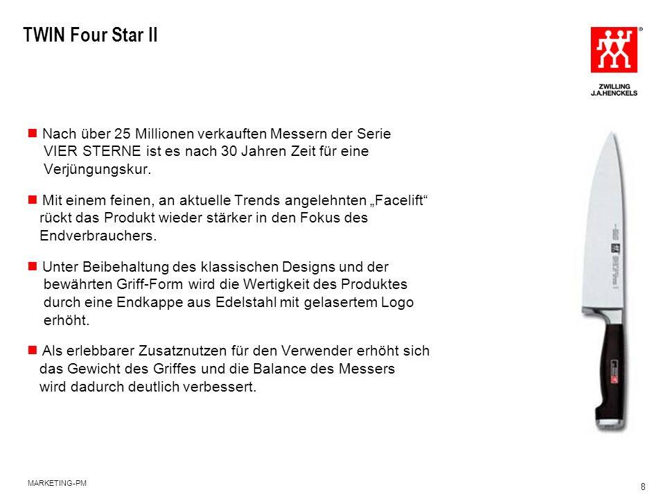 TWIN Four Star II Nach über 25 Millionen verkauften Messern der Serie VIER STERNE ist es nach 30 Jahren Zeit für eine Verjüngungskur.