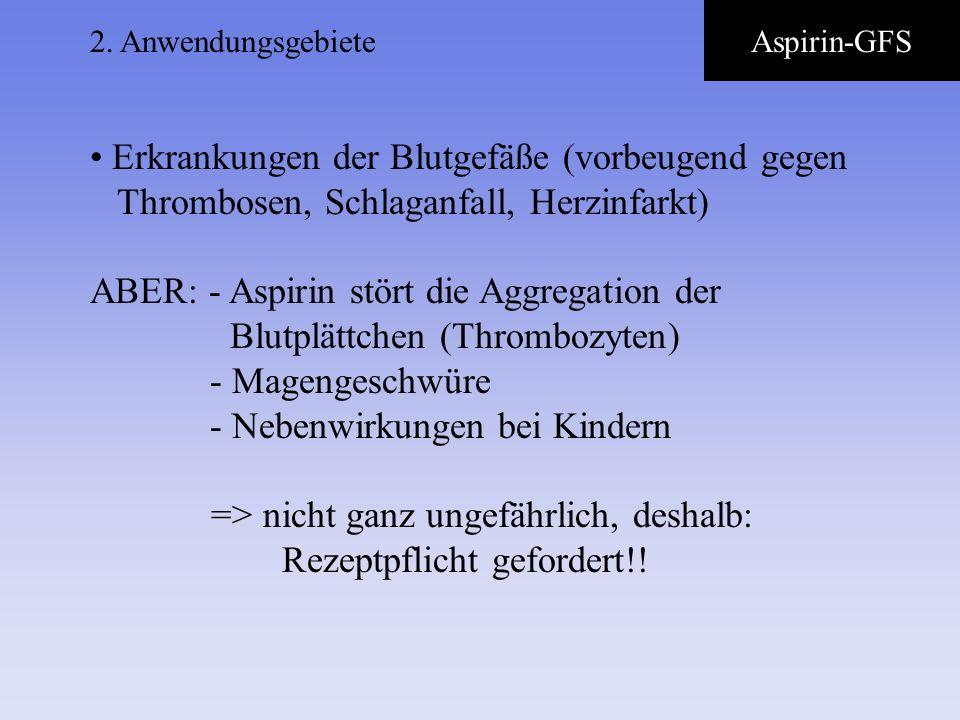 2. AnwendungsgebieteAspirin-GFS.