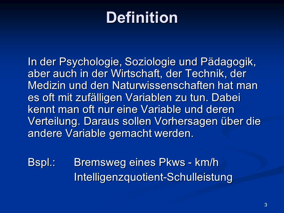 Definition Intelligenzquotient-Schulleistung