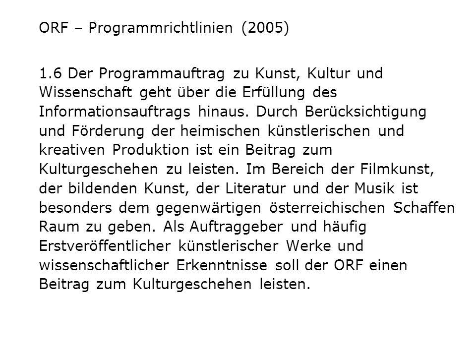 ORF – Programmrichtlinien (2005)