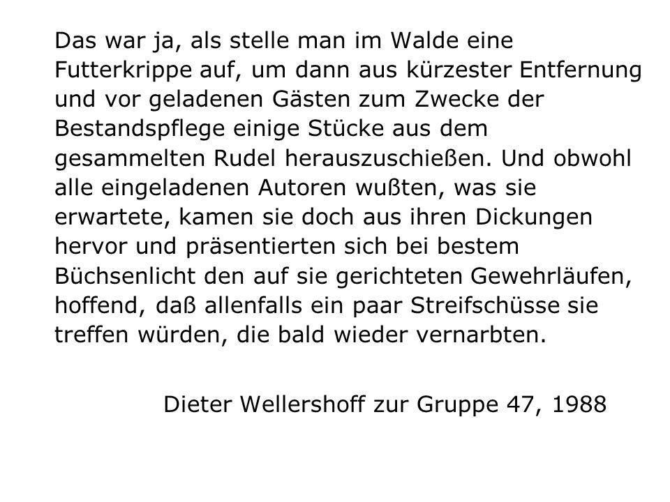 Dieter Wellershoff zur Gruppe 47, 1988