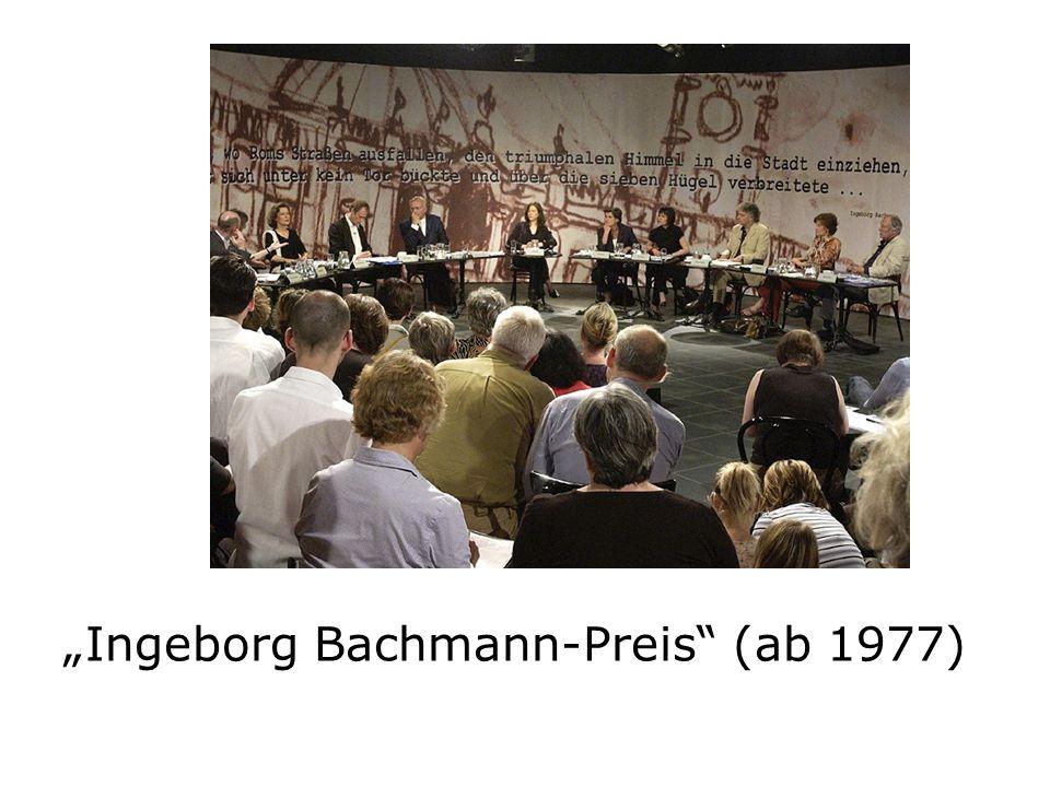 """Ingeborg Bachmann-Preis (ab 1977)"