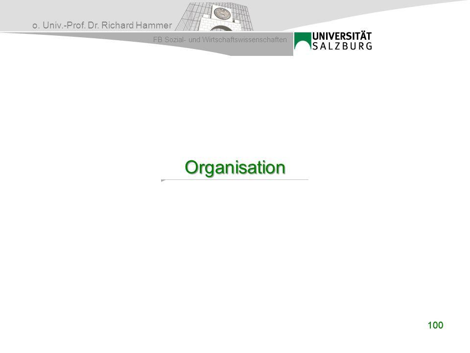 Organisation 100 100