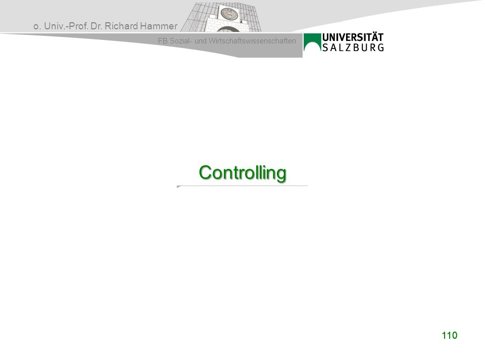 Controlling 110 110
