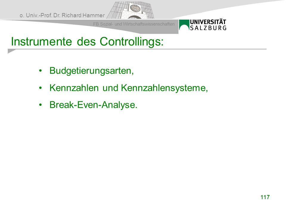 Instrumente des Controllings: