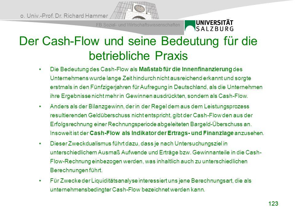 Der Cash-Flow und seine Bedeutung für die betriebliche Praxis
