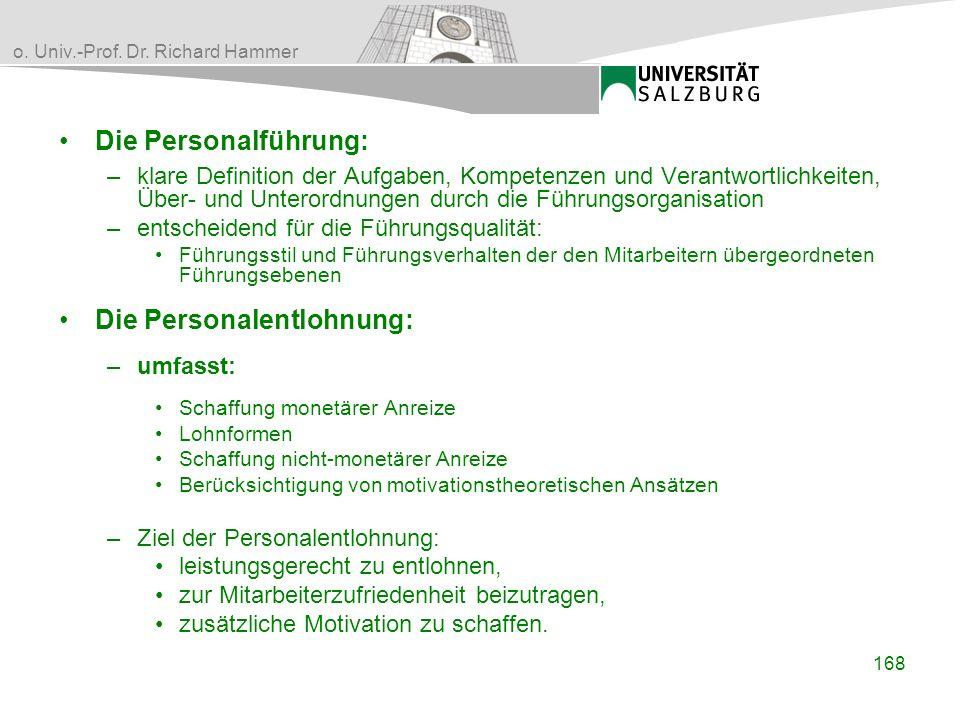 Die Personalentlohnung: