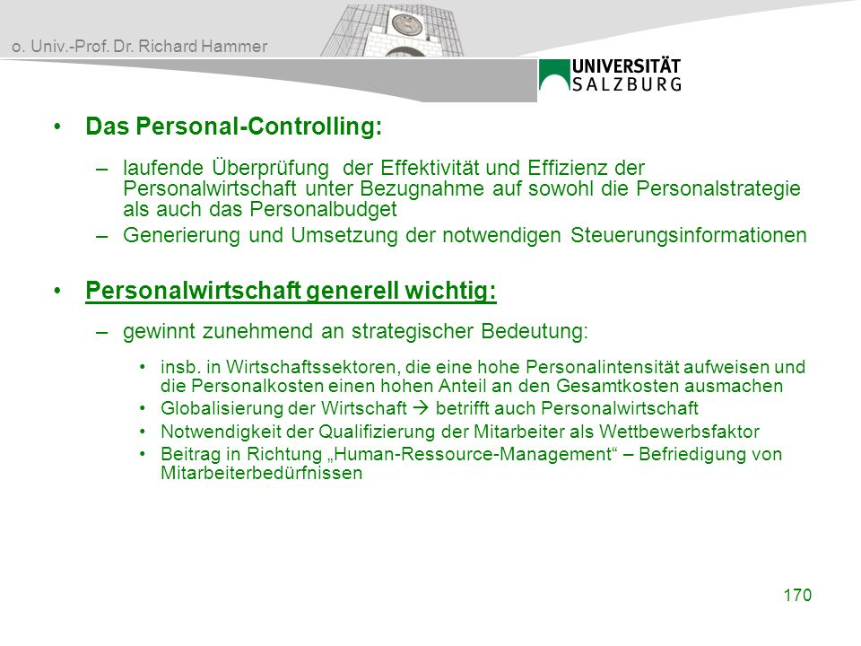 Das Personal-Controlling:
