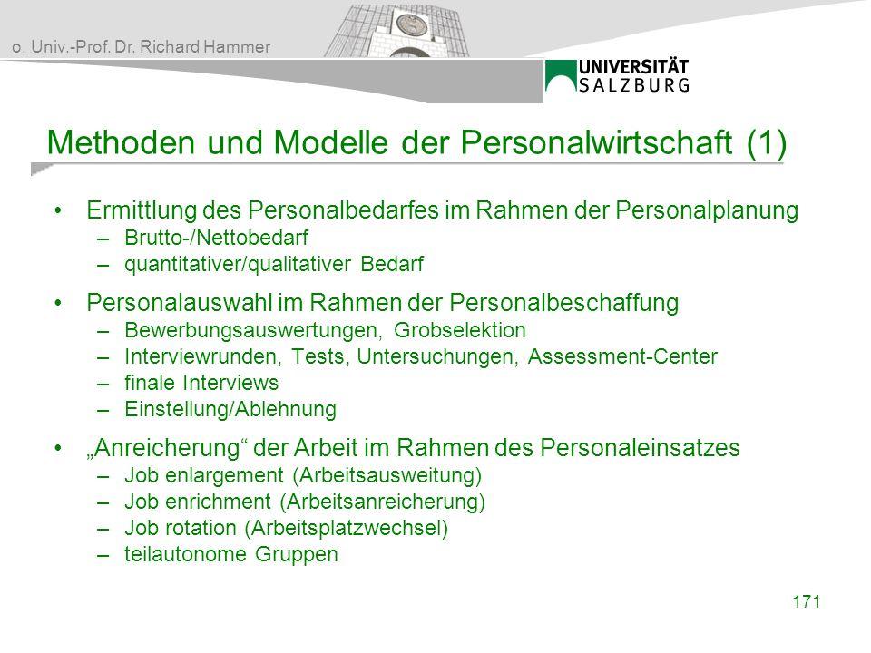 Methoden und Modelle der Personalwirtschaft (1)