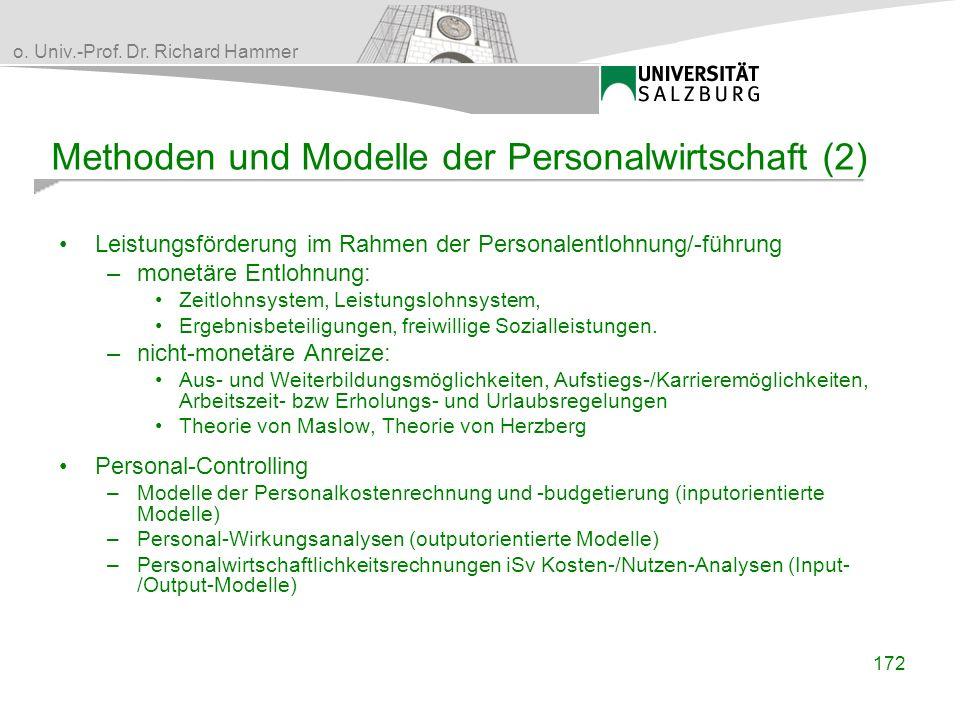 Methoden und Modelle der Personalwirtschaft (2)