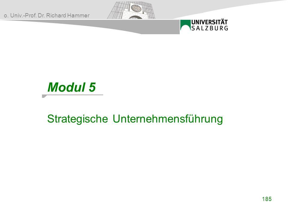 Modul 5 Strategische Unternehmensführung 185