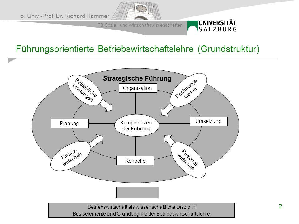 Führungsorientierte Betriebswirtschaftslehre (Grundstruktur)