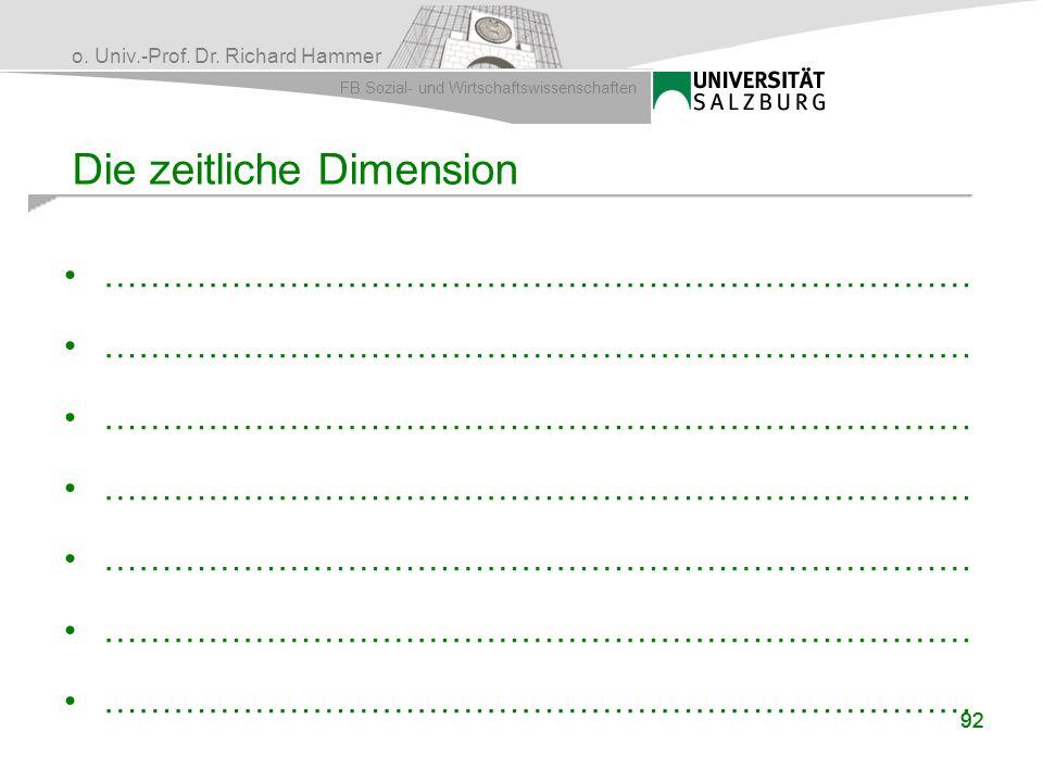 Die zeitliche Dimension